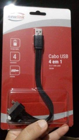 Cabo USB 4 em 1