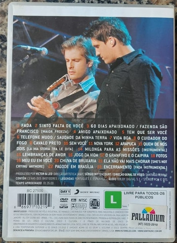 Oferta!! Dvd Victor & Leo Ao Vivo Em Uberlândia - Sony Music - Foto 3
