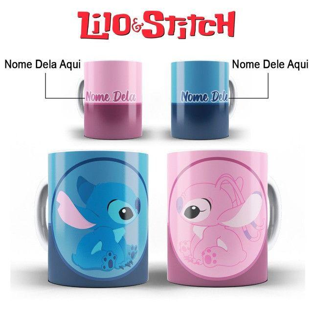 Ohana Caneca Stitch Personalizada Com o Nome da Pessoa Amada - Foto 4