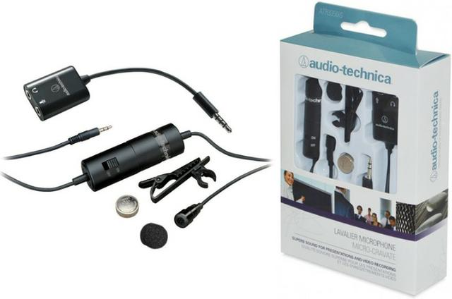 microfone de lapela audio technica atr 3350 Áudio tv vídeo e