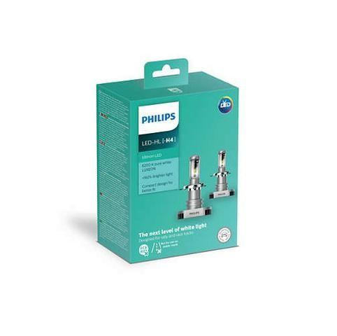 Lâmpada Moto Philips Ultinon Led-hl H4 6200k +160%