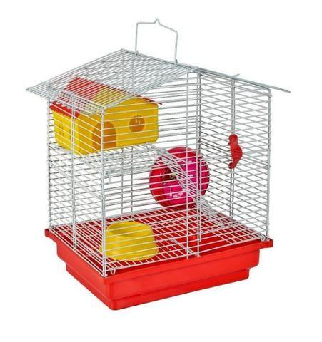 Gaiola Completa Para Hamster. 2 Andares Com Comedouro, Rodinha E Casinha. Pintura Epóxi