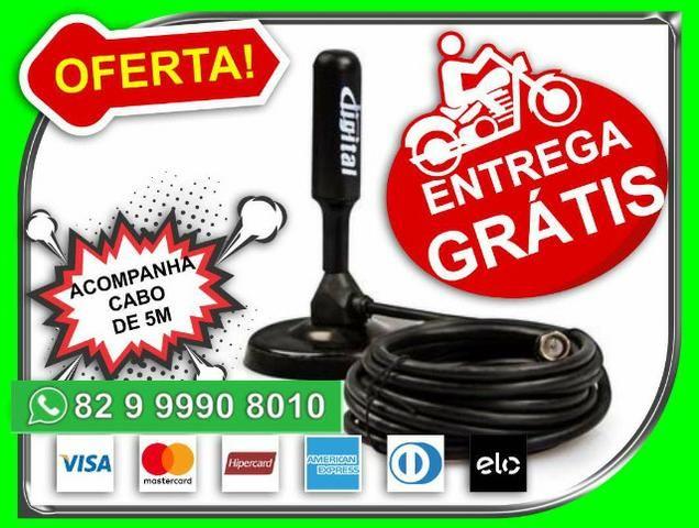 Pronta-entrega-SP> Antena Digital Hd FullHd Cabo 5m