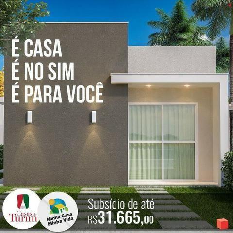 Casas-de-Turim \2 e 3 Quartos com suíte, Laje, Bairro Sim, Area para ampliação