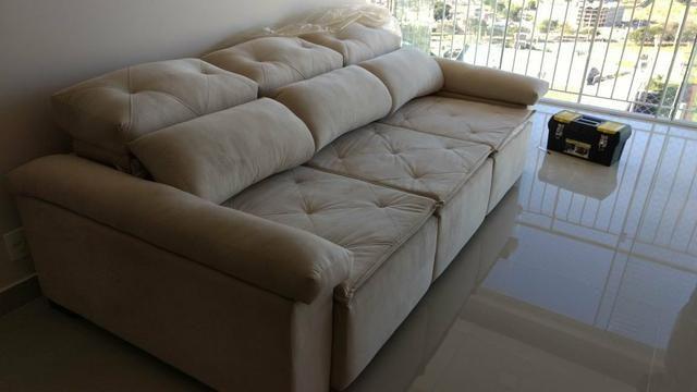 Sofá retrátil e reclinável sob medida