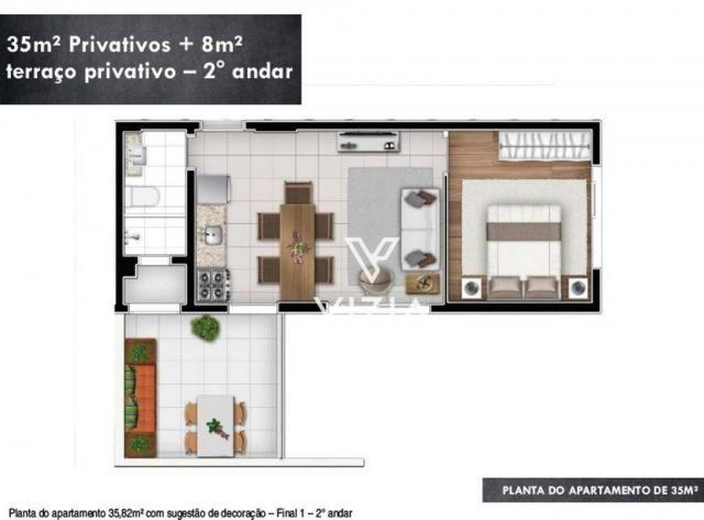 Studio com 1 dormitório à venda, 29 m² por R$ 265.000,00 - Alto da Rua XV - Curitiba/PR - Foto 18
