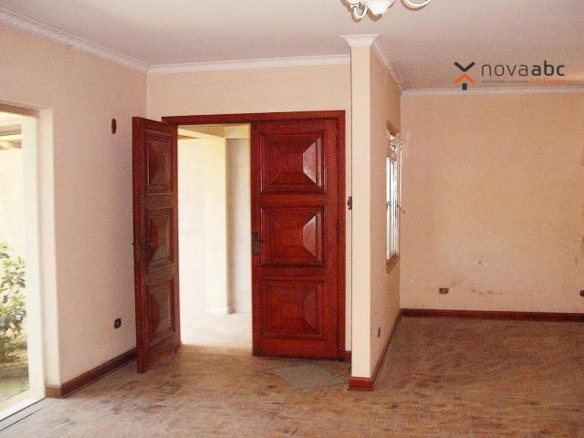 Sobrado com 4 dormitórios para alugar, 260 m² por R$ 4.500,00/mês - Vila Homero Thon - San
