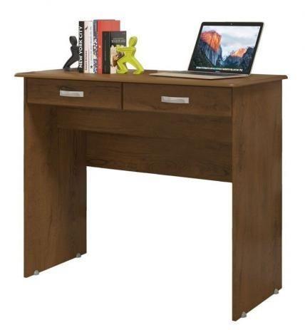 Escrivaninha Mesa Computador Quarto Escritorio Ej 2 Gavetas - Foto 6
