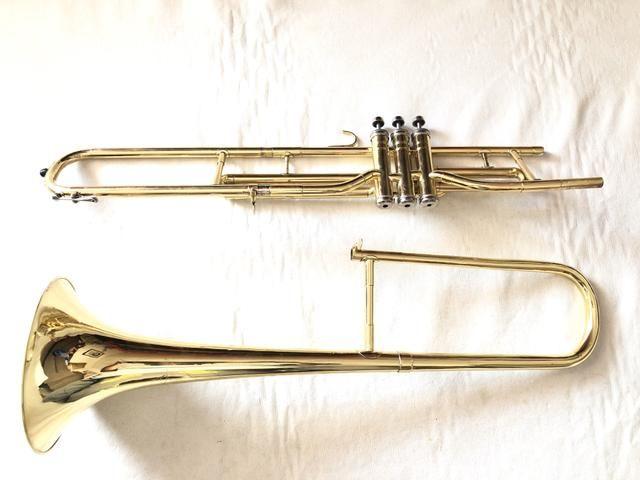 Trombone Weril em dó filé lindo. - Foto 4