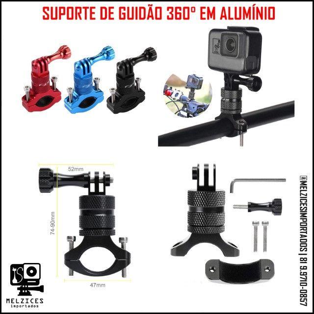 Suporte de Guidão 360° Em Alumínio Para GoPro E Similares