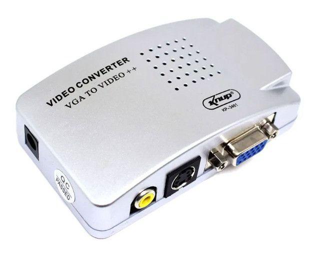 Adaptador Conversor VGA (PC) para RCA (AV) KP - 3461