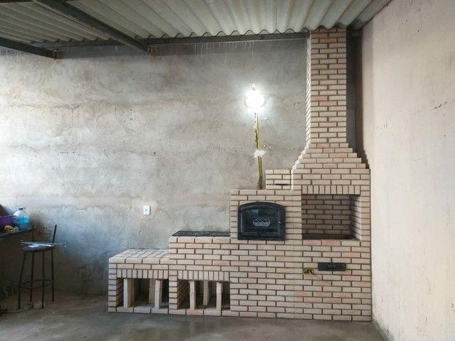 Churrasqueira, forno e fogão a lenha construídos no tijolinho maciço aparente. - Foto 2