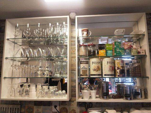 Linda Casa De Café Expresso Pratos Rápidos Café Salgados Bolos Lindíssima - Foto 4