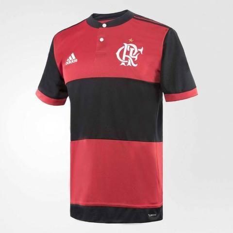 1b94c30cfa273 Camisa Original Rubro-negra Flamengo Adidas Jogo I 2017 Modelos com e sem  Patrocínio