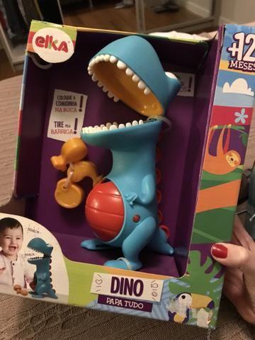 Brinquedo Dino Papa Tudo NOVO