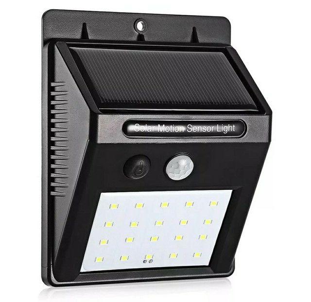 Luminária solar com detetor de movimento
