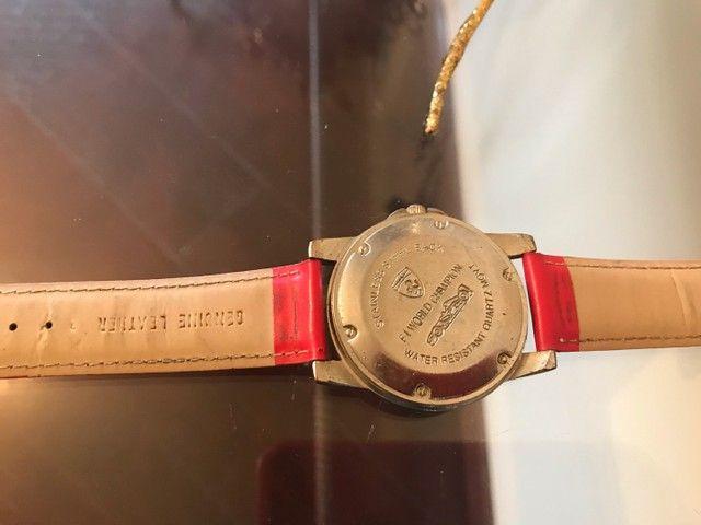 Relógio Ferrari Vermelho Original Funcionando  - Foto 3