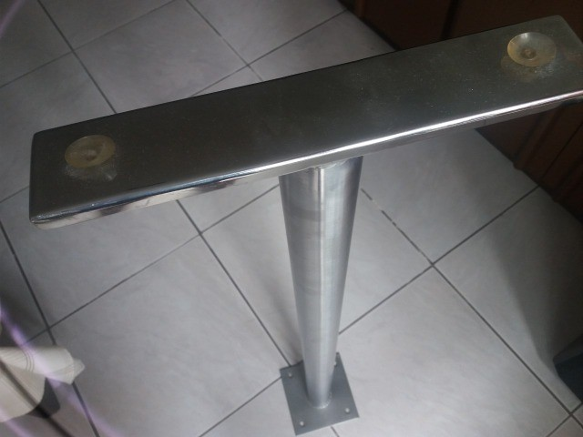Suporte para bancada de apoio (balção) Inox 304 altura 1m, diametro do tubo 50mm - par - Foto 3