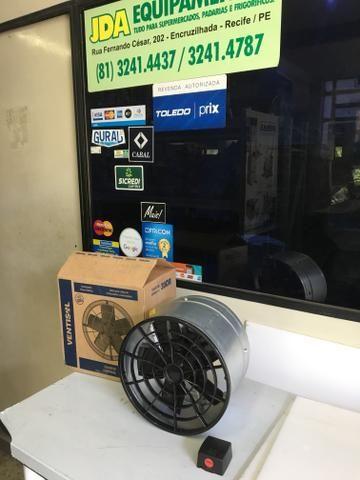 Exaustor 30 cm com chave de reversão / ideal para para deixar o ambiente sem calor - Foto 2