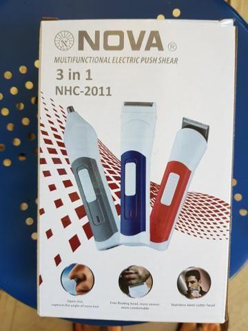Maquina Acabamento Barba Cabelo Pelos Depiladora Nariz 3em1