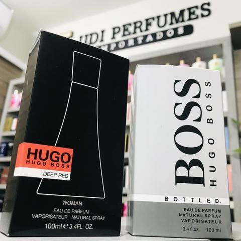 Perfume Hugo Boss Deep Red 100ml ou Hugo Boss Bottled 100ml