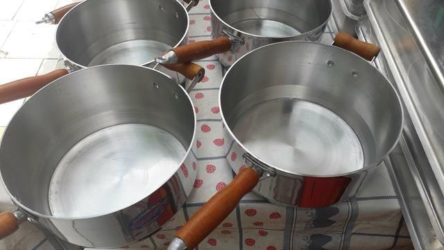 Panelas cabuda alumínio Grosso - Foto 3