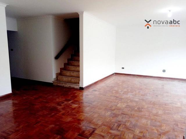 Sobrado com 4 dormitórios para alugar, 260 m² por R$ 4.500,00/mês - Vila Homero Thon - San - Foto 5