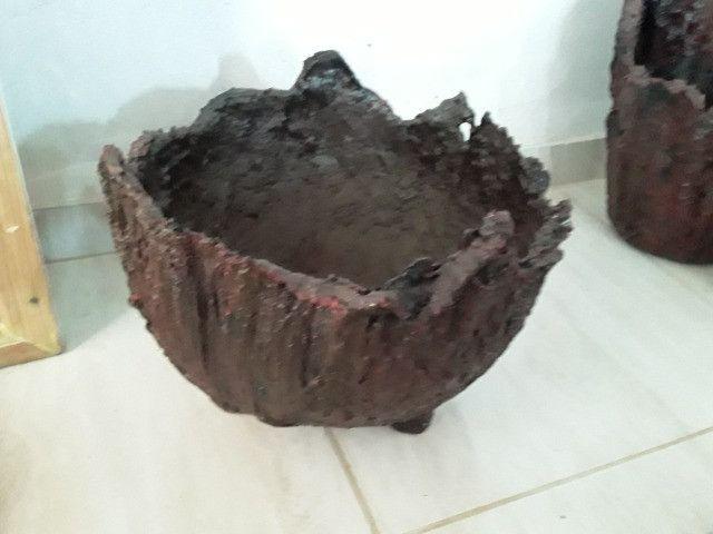 Vaso de Tecido com Cimento Resinado - Foto 3
