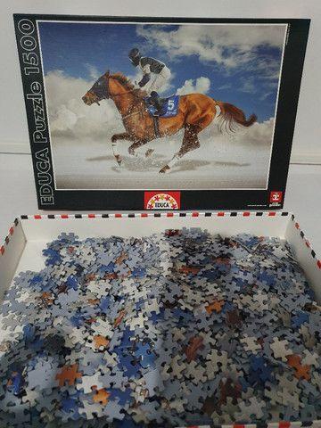 Quebra cabeça Educa - 1500 peças - Turfe - Cavalo