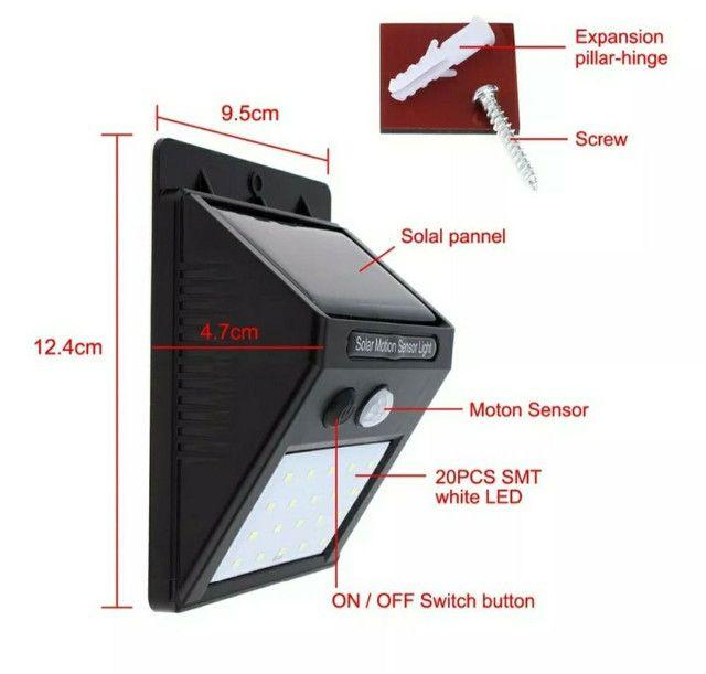 Luminária solar com detetor de movimento - Foto 3