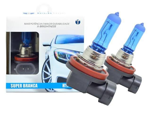 Lâmpada H8 H9 H11 Super Branca TechOne 8500k Par