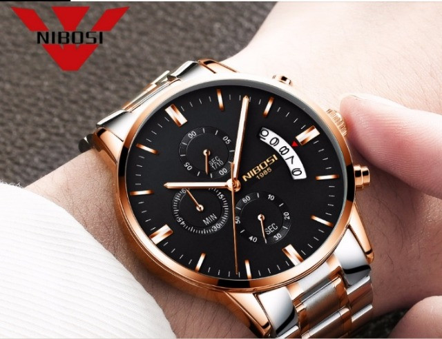 Relógio Nibosi Dourado 2309 - Foto 5