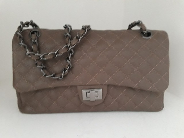 Bolsa feminina nova couro legítimo cores  - Foto 2