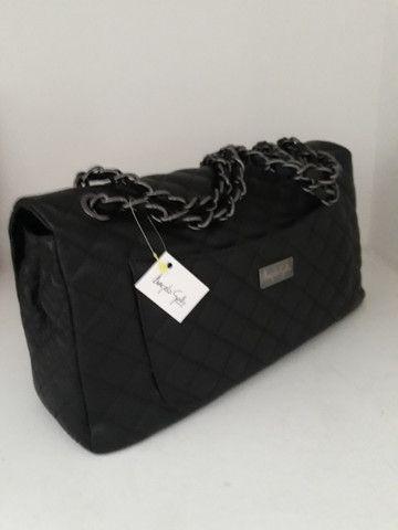 Bolsa feminina nova couro legítimo cores  - Foto 5