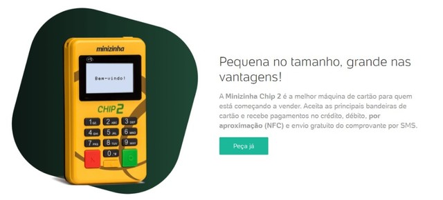 Maquina de Cartão Minizinha Chip - Foto 3