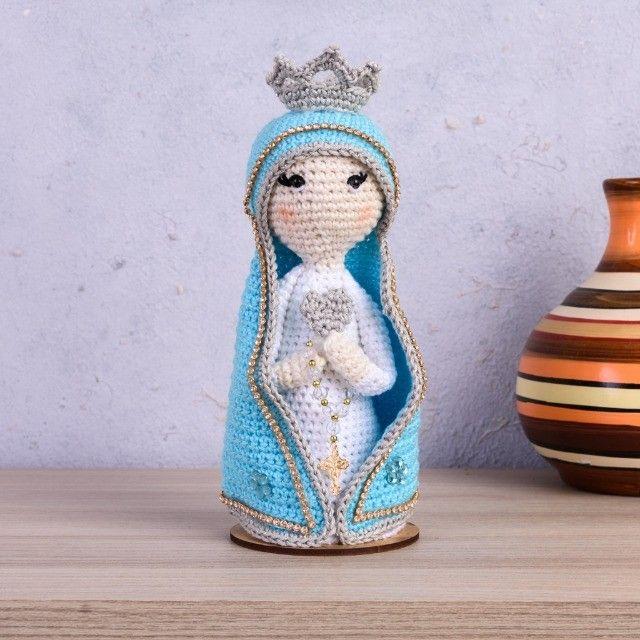 Nossa Senhora em amigurumi - Foto 3