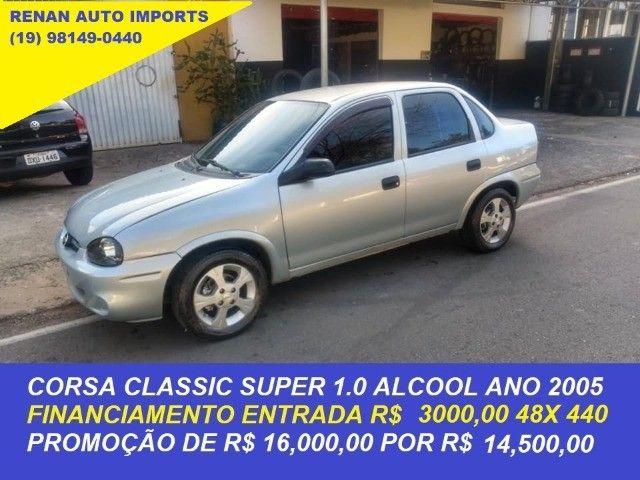 corsa sedan classic 1.0 alcool ano 2005 financiamos