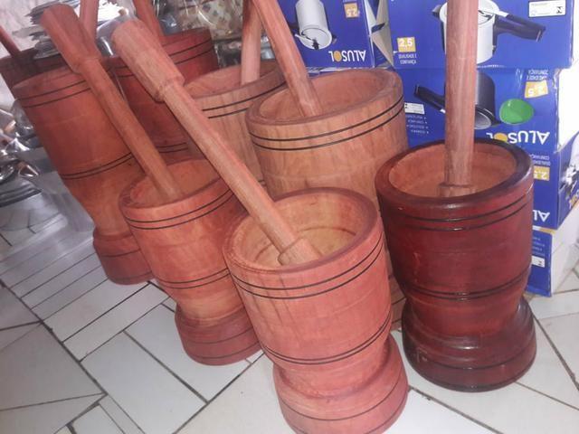 PILÃO de madeira rústica apronta entrega Apartir de 150