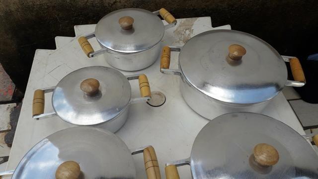 Jogo de panela alumínio batido Grosso - Foto 4