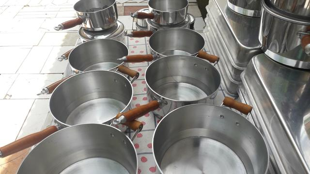 Panelas cabuda alumínio Grosso - Foto 4