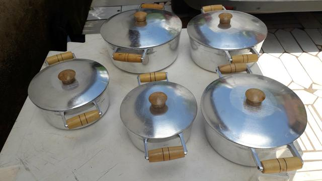 Jogo de panela alumínio batido Grosso