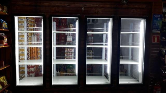 Expositor com portas de vidros.walk in box walk in cooler .camara fria com portas de vidro - Foto 2