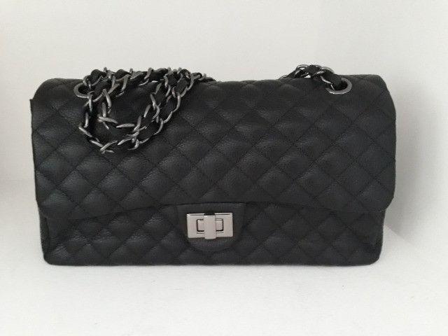 Bolsa feminina nova couro legítimo cores  - Foto 3