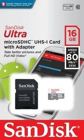 Cartão Memória Sandisk 16gb Micro Sdhc - Foto 3