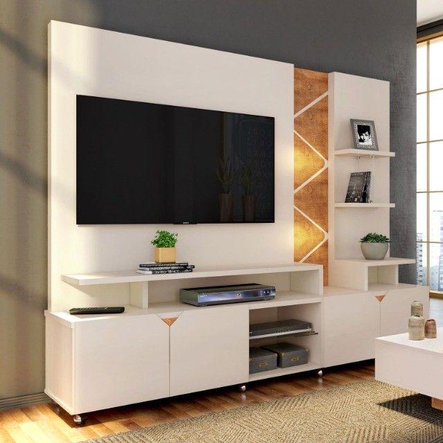 """Home Estante Cross com LED para Tv até 55"""" - Entrega Grátis e Imediata p/ Fortaleza - Foto 2"""