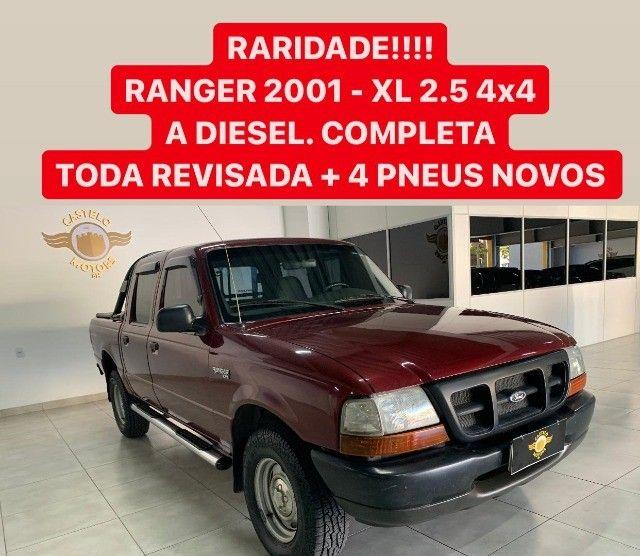 Raridade! Ranger Xl 2.5 4x4 Diesel C.Dupla - Foto 11