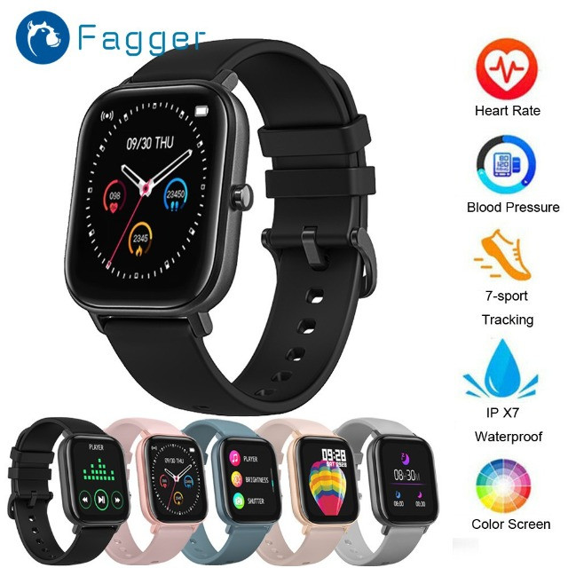 Fagger- * - - * -P8 Sports Smart Watch Fitness Heart Rate Smart Bracelet Touch-Screen IPX7 - Foto 2