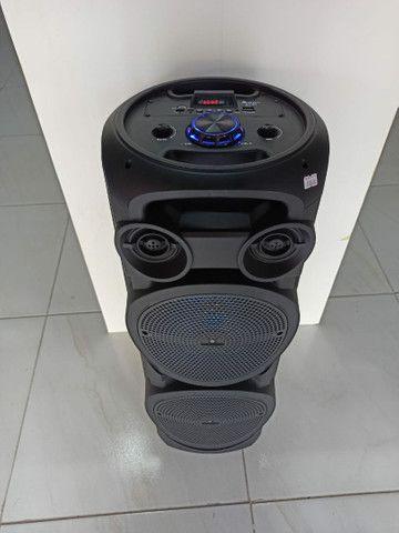 Caixa de Som Torre com Microfone Sem fio - Foto 5