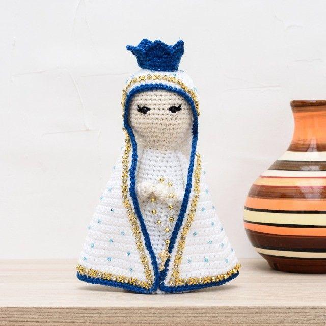 Nossa Senhora em amigurumi - Foto 4