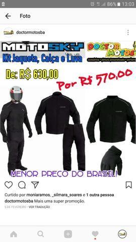 Jaqueta, calça e luva cordura motociclista